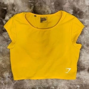 Gymshark Dreamy crop, yellow